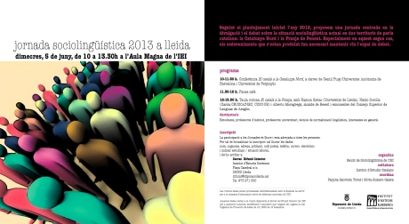 Jornada Sociolingüística 2013