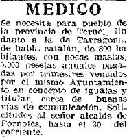 Doctor Fórnols habla catalán 1923