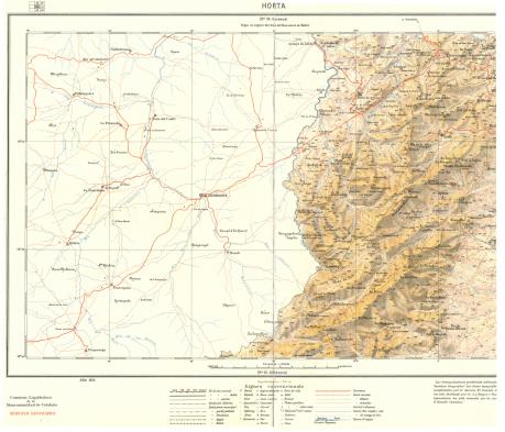 Mapa Terra Alta i Matarranya 1925 - baixa